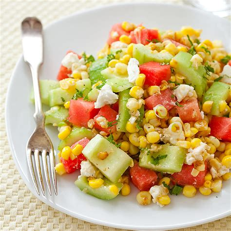 America S Test Kitchen Corn On The Cob by Watermelon Feta Fresh Corn Salad Cook S Country