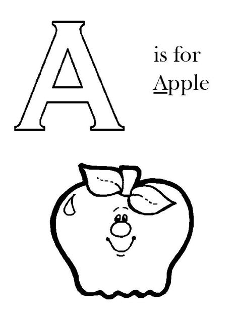 coloring page a is for apple coloring pages alphabet free printable letter coloring