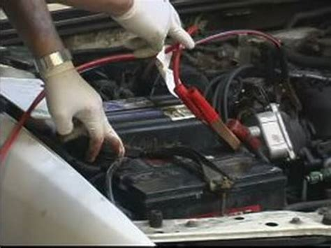 jump start  car connecting jumper cables