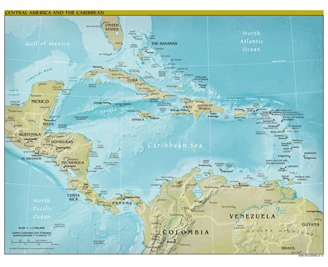 map of central america with major cities maps of central america and the caribbean central america