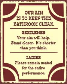 Bathroom Signs For Work Free Office Bathroom Etiquette Signs Just B Cause