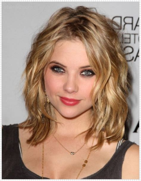 medium length hairstyles for thick hair and round faces 17 captivating hairstyles for round faces sheideas