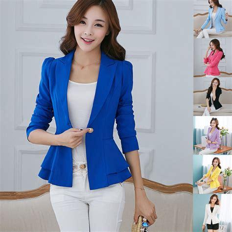 fashion casual business blazer one button slim suit jacket coat ebay