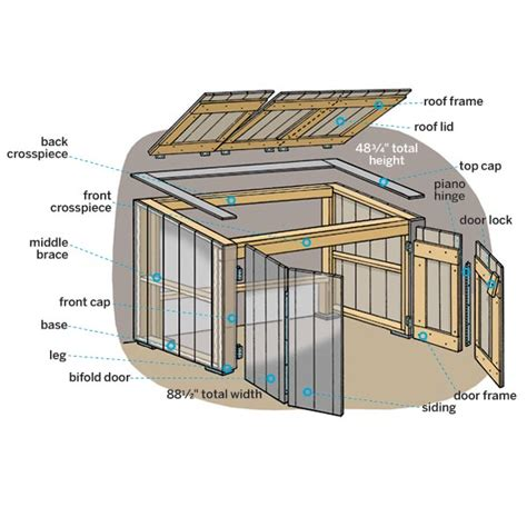 How To Build A Garbage Shed by How To Build A Trash Shed