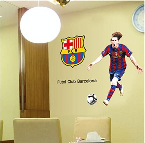 Peel Off Wall Stickers wallpicture art messi posters football wall stickers sport