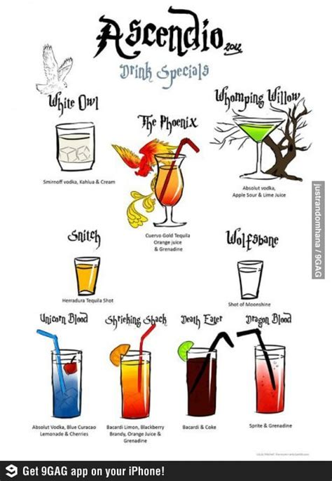 cocktail themed names 27 best harry potter recipes images on pinterest butter