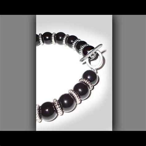 Black Onyx And Teal Swarovski Bracelet crystalz co accented bracelet black onyx and pink swarovski from crystalz co s closet on