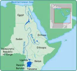 Nile River On World Map by Nile River On Map From The Map Below