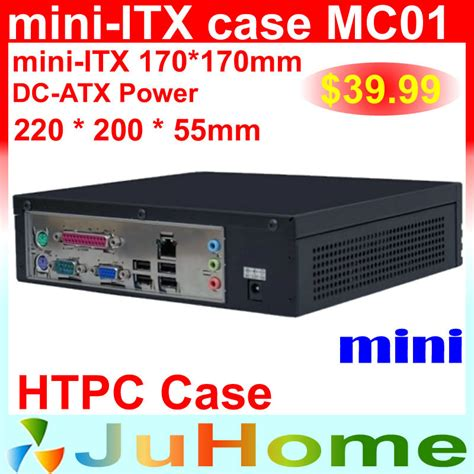 slim pc case fan aliexpress com buy htpc mini itx case 220 220 55mm