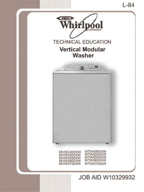 whirlpool belt drive washer repair guide