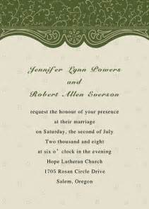 green card wedding printable green wedding invitations part 4