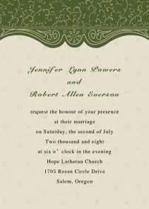 printable green wedding invitations part 4