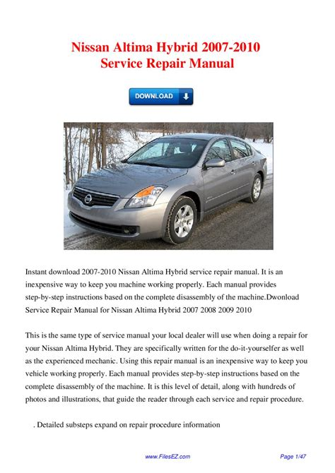 free car manuals to download 2007 nissan altima electronic throttle control service manual car repair manuals download 2007 nissan altima head up display haynes nissan