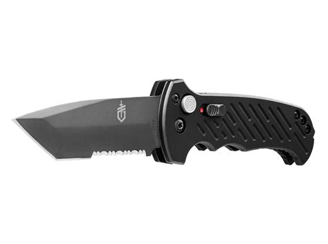 gerber 06 auto tanto gerber 06 auto automatic opening tanto serrated edge