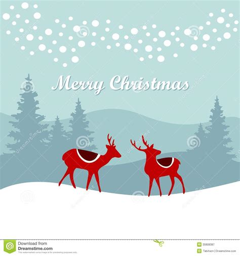 retro christmas card invitation  reindeer   royalty  stock photography image