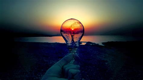 Light Bulb In by Light Bulb In The Sunset Wallpaper 1034535