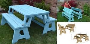 bench picnic table convertible picnic table and bench home design garden