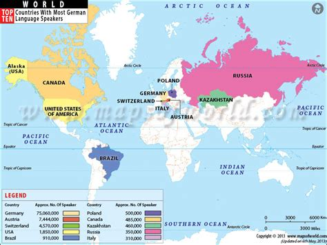 german map of the world german