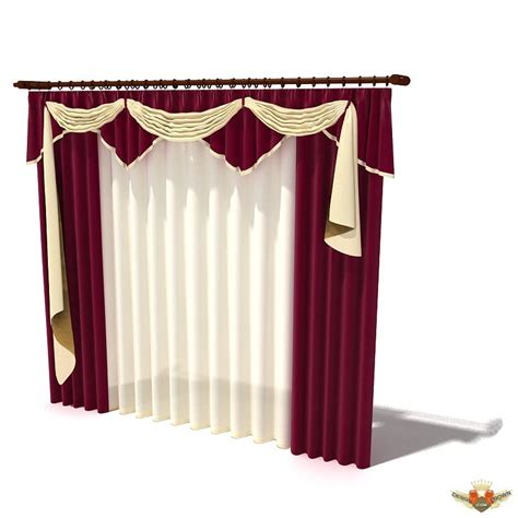 house curtain house curtains 3d models