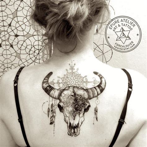 bull skull tattoo designs cow skull by roura i this size and