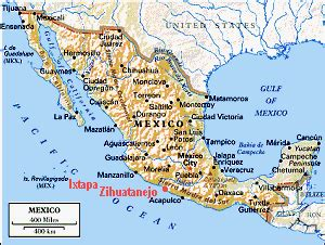 map of mexico showing ixtapa zihuarob s maps of zihuatanejo ixtapa troncones and