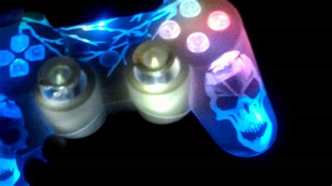 ps3 controller light codes modded ps3 controller led lights youtube