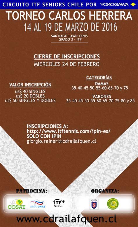 Calendario De Herrera Torneo Quot Carlos Herrera Quot