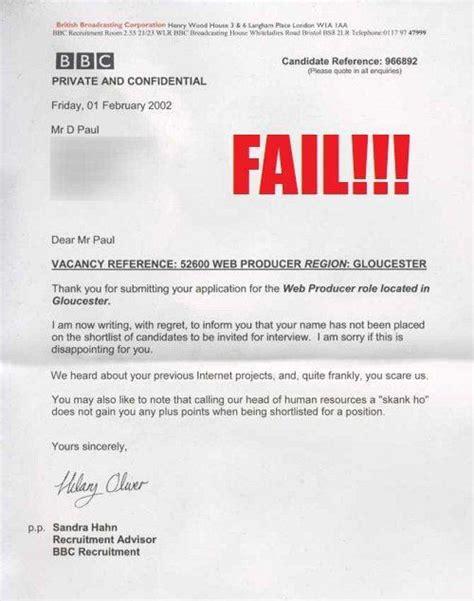 up letter dear loser chris greatest employment rejection letters socialtalent