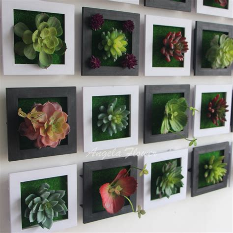 aliexpress com buy black creative 3d metope succulent plants imitation wood photo frame wall