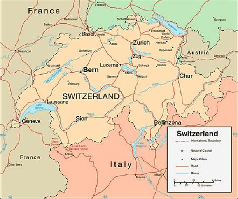 map of switzerland and germany with cities switzerland map vacation idea