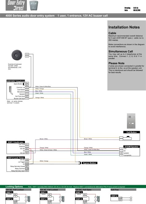 100 wiring diagram for bell door entry system chime