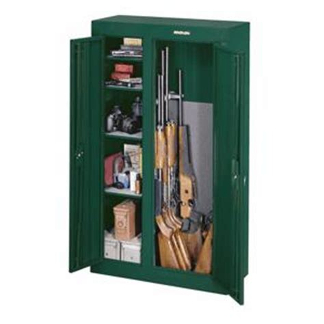 stack on green 10 gun security cabinet home hardware