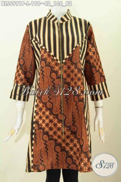 Atasan Batik Belakang baju batik elegan untuk penilan lebih berkeas model