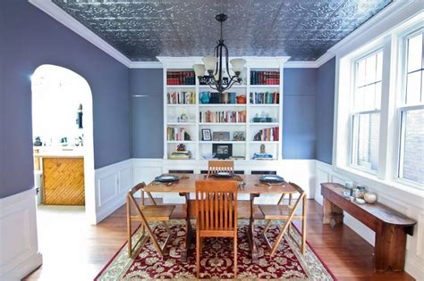 Tin Room by Dining Room Makeover With A Tin Ceiling