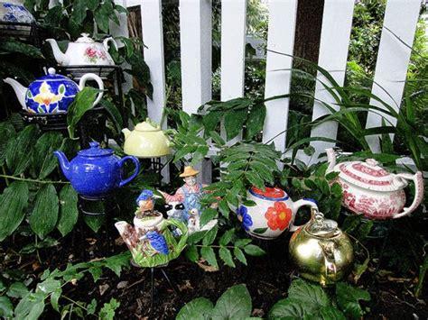 teapot garden teapot garden flickr photo upcyling