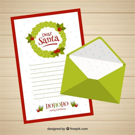 dear santa letter template images dear santa letter template with a green envelope vector