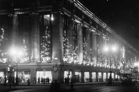 christmas trees at selfridges at revisiting capital s festive past news