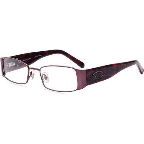 contour womens prescription glasses fm14079 purple brown