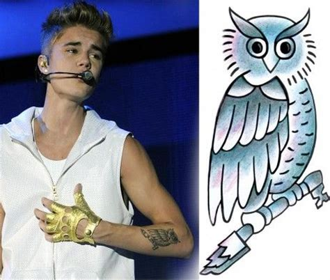 owl tattoo celebrity 17 best images about justin bieber tattoos on pinterest