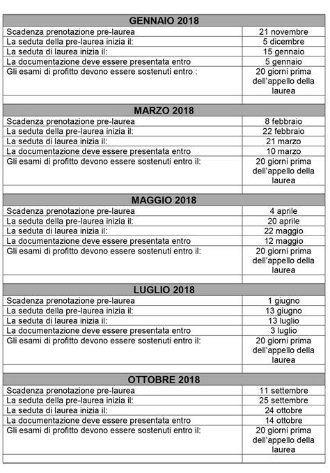 calendario sedute di laurea calendario sessioni