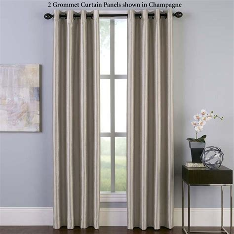 malta faux silk room darkening grommet curtain panels