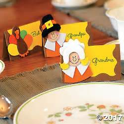 thanksgiving place card craft kit trading