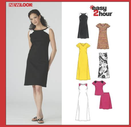 pattern review new look 6374 new look 6374 misses knit dresses top and skirt sewing