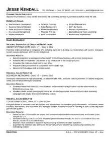 Resume Templates For Sales Executive Exle Sales Executive Resume Free Sle