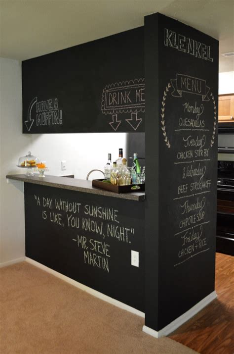 chalkboard wall trend comes to modern homes 38