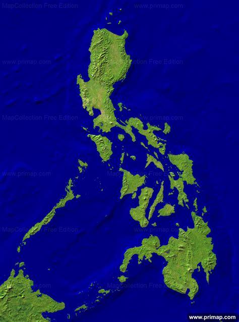 map philippines satellite primap national maps