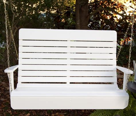 high back porch swing porchgate amish made high back white porch swing fresh