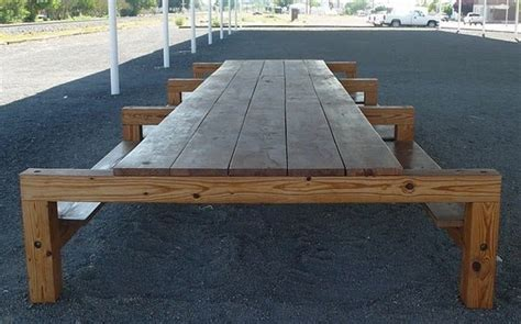 picnic benches for schools donald judd marfa picnic bench cool for your school pinterest