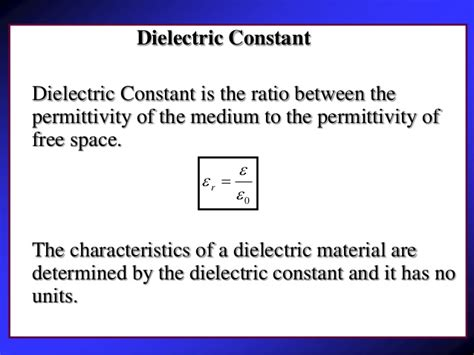 electrolytic capacitor relative permittivity mica capacitor relative permittivity 28 images definition of capacitance ppt dielectrics
