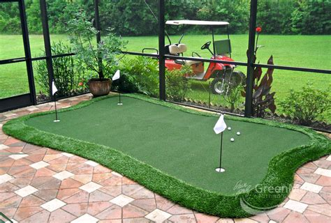 backyard putting green kits backyard putting greens artificial grass golf pertaining